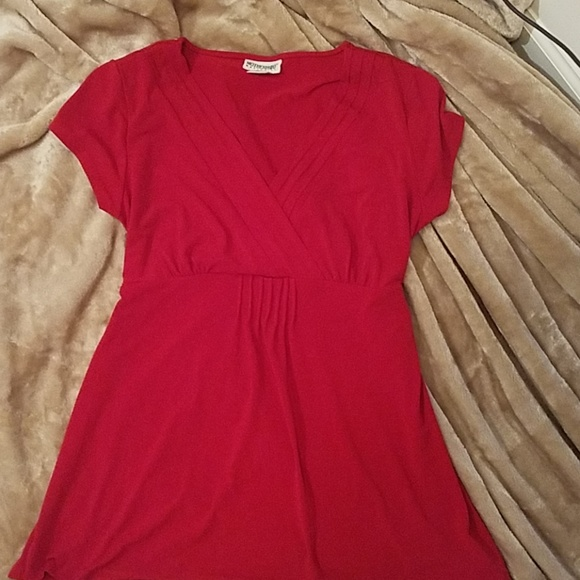 Motherhood Maternity Tops - Motherhood maternity size M red blouse